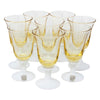 Vintage Yellow Milk Glass Cordial Liquor Glasses Front | The Hour Shop