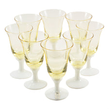 Vintage Johansfors Yellow Liqueur Glasses, The Hour Shop