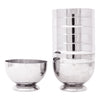 Vintage Chase Gaiety Chrome Cocktail Shaker Set Stacked Cups | The Hour Shop