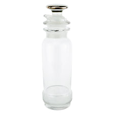 Vintge Heisey Crystal Silver Top Cocktail Shaker | The Hour