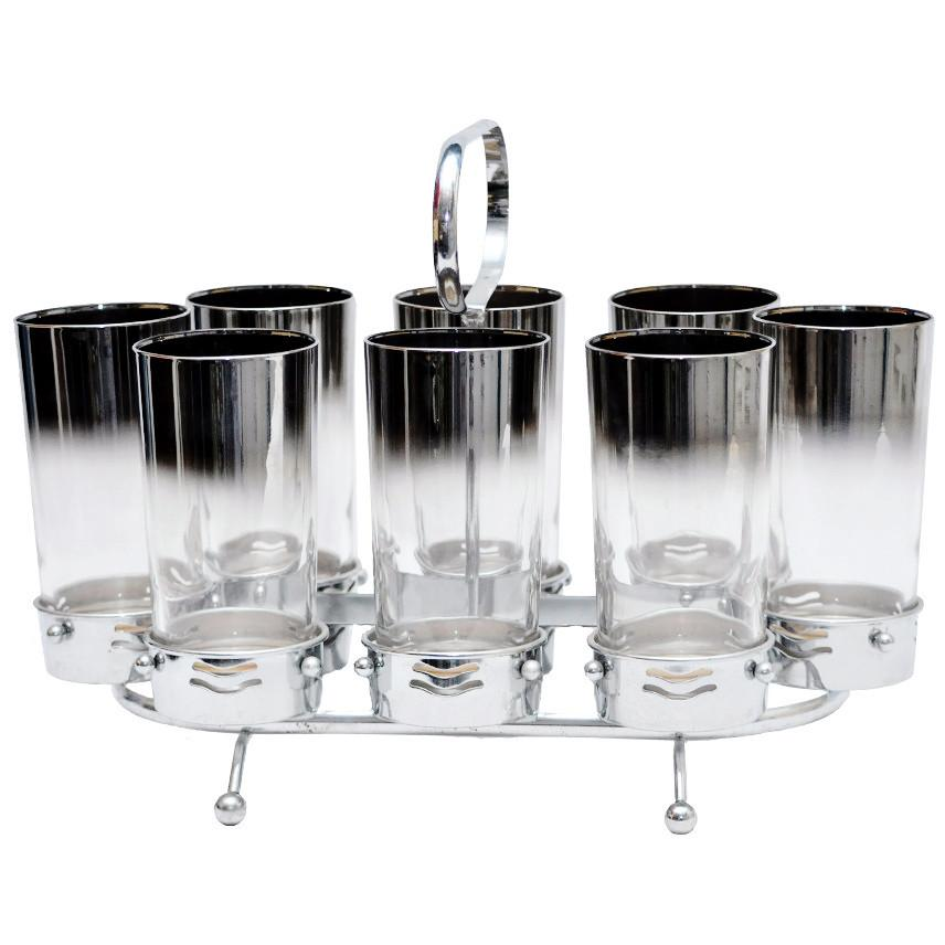 Mercury Collins Glass & Coaster Caddy | The Hour Shop Vintage