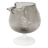 Vintage Etched Smoke Glass & Opaline Cocktail Pitcher Set Pedestal Pitcher | The Hour Shop