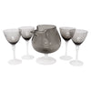 Vintage Etched Smoke Glass & Opaline Cocktail Pitcher Set | The Hour Shop