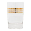 Vintage Gold Bands Single Old Fashioned Glass | The Hour Shop