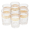 Vintage Gold Bands Single Old Fashioned Glasses | The Hour Shop