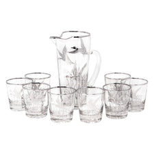 Vintage Silver Flying Geese Cocktail Pitcher Set | The Hour Shop