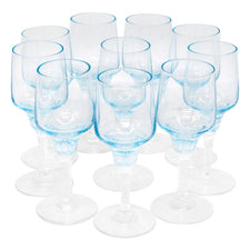 Vintage Sasaki Light Blue Cordial Glasses | The Hour Shop