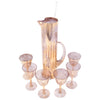 Vintage Gold Shimmer Empire Cocktail Pitcher Set Top | The Hour Shop