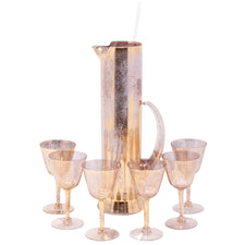 Vintage Gold Shimmer Empire Cocktail Pitcher Set | The Hour Shop