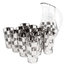 Vintage Mercury Checkered Cocktail Pitcher Set | The Hour Shop