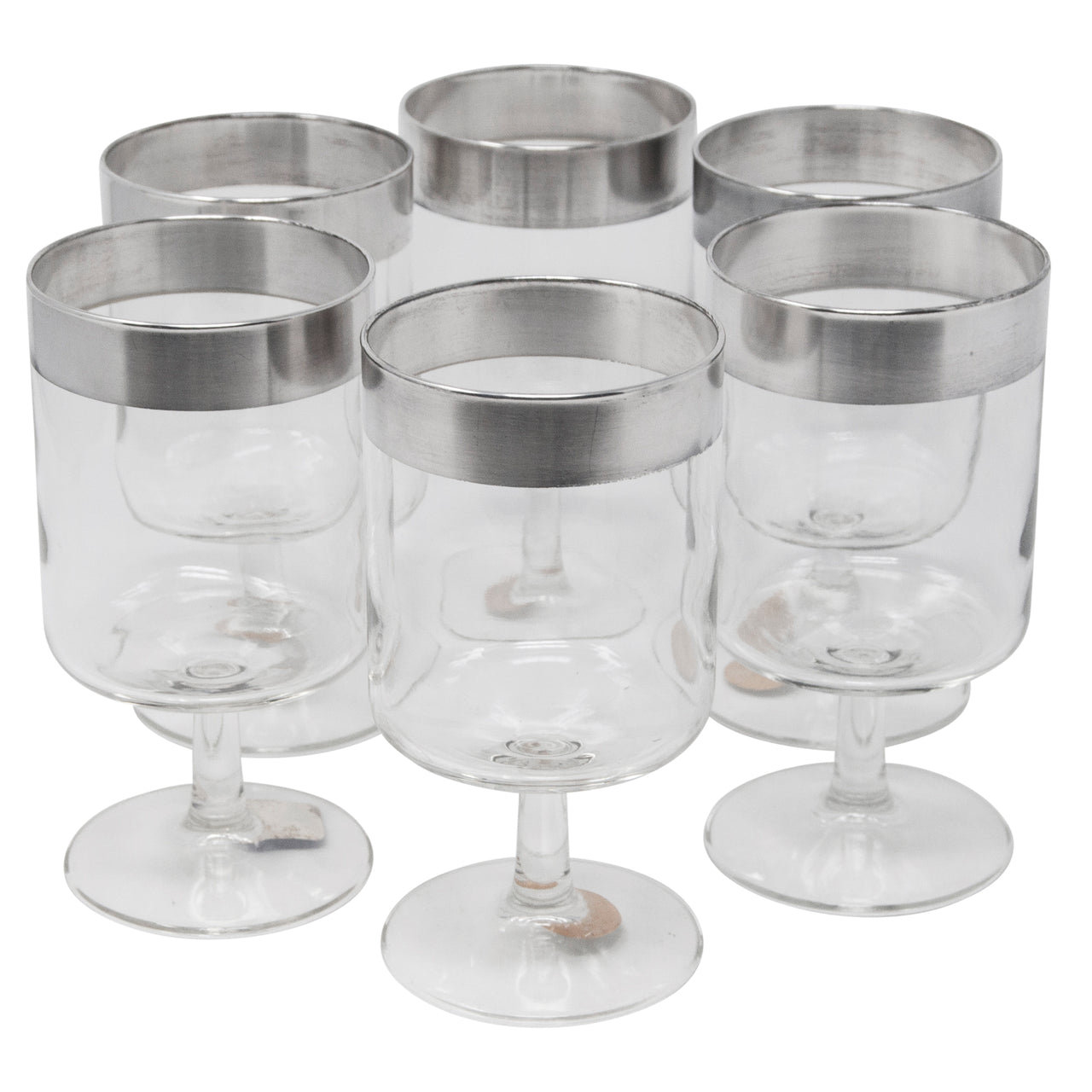 Vintage Dorothy Thorpe Sterling Band Goblets | The Hour Shop