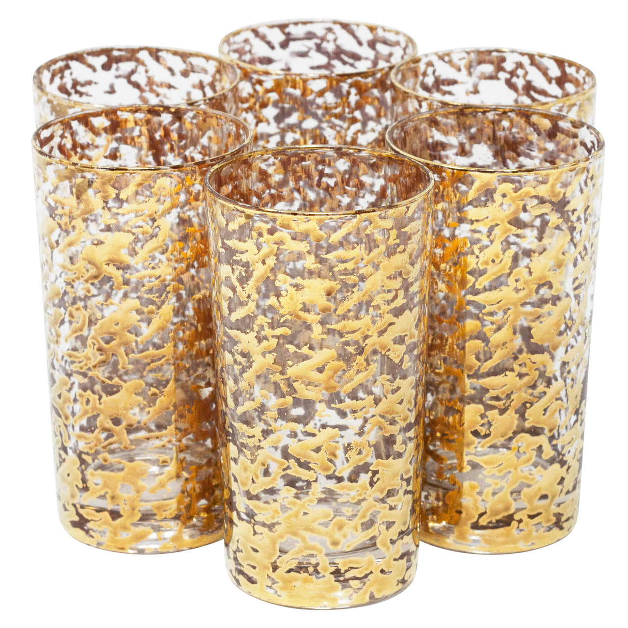 Vintage Gold Shimmer Collins Glasses | The Hour