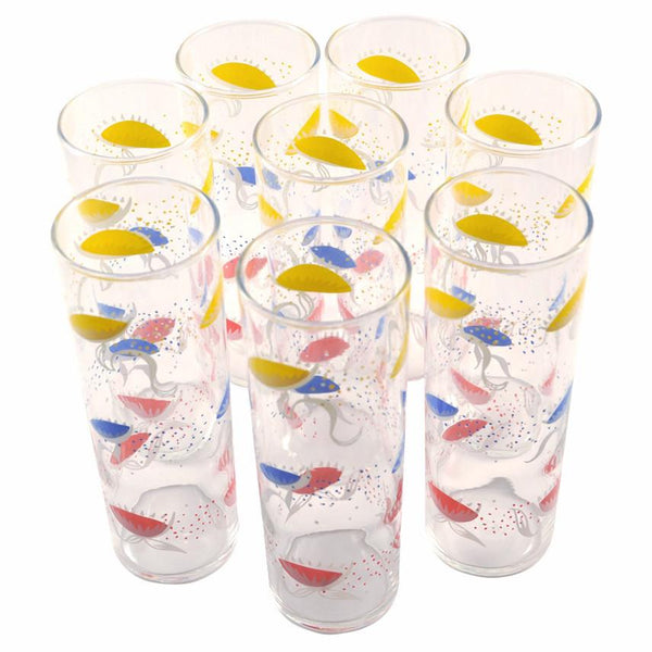 Vintage Flower Collins Glasses, TheHourShop.com