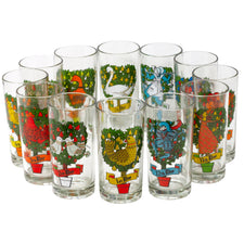 Vintage Twelve Days of Christmas Collins Glasses | The Hour