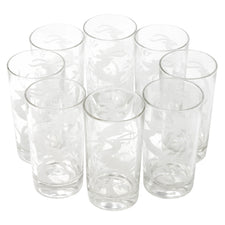 Hazel Atlas White Gazelle Collins Glasses | Set of 8