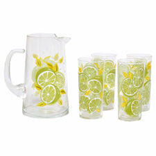 Culver Sliced Limes Pitcher Set | The Hour Shop Vintage
