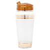 Vintage Gold Band Frosted Cocktail Shaker Set Cocktail Shaker | The Hour Shop