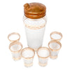 Vintage Gold Band Frosted Cocktail Shaker Set Top | The Hour Shop