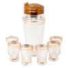 Vintage Gold Band Frosted Cocktail Shaker Set | The Hour Shop
