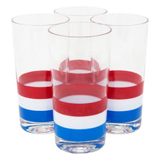 Georges Briard Red White and Blue Collins Glasses | The Hour Shop