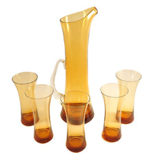 The Hour Shop, Vintage Amber Cocktail Pitcher Set