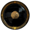 Vintage G. Briard Black & Gold Seashell Tray, The Hour