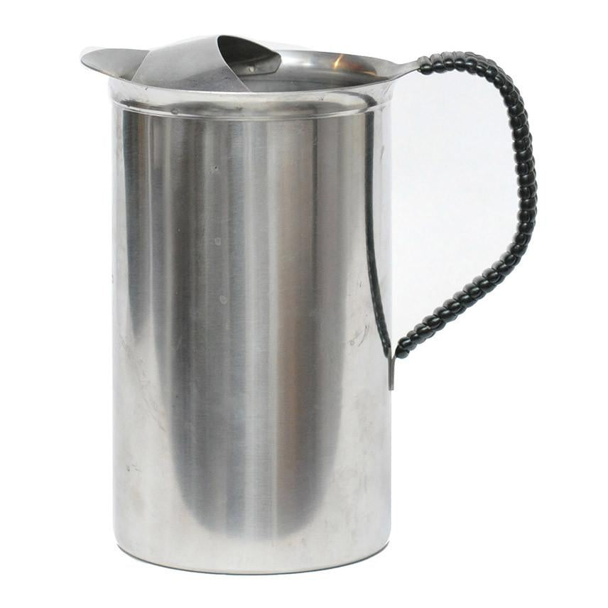 Vintage Danish Modern Stainless Pitcher, The Hour