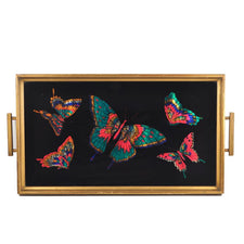 The Hour Shop, Reverse Painted Butterflies Tray