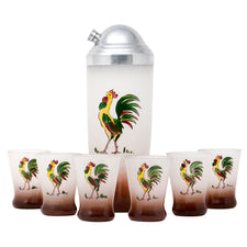 Hand Painted Rooster Shaker Set
