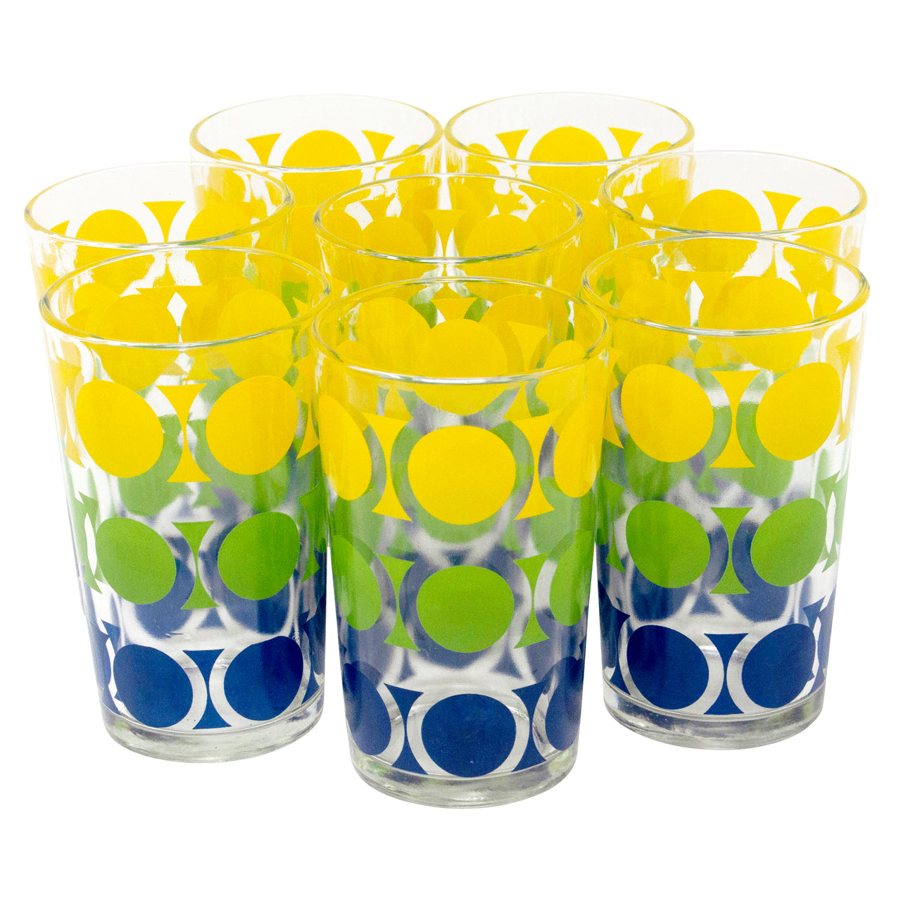 Yellow Green & Blue Dots Tumblers