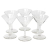 Vintage CG Quartex Etched Rose Martini Glasses | The Hour Shop