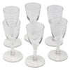 Vintage CG Quartex Etched Rose Crystal Liqueur Glasses Top | The Hour Shop