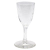 Vintage CG Quartex Etched Rose Crystal Liqueur Glasses Stem | The Hour Shop