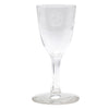 Vintage CG Quartex Etched Rose Crystal Liqueur Glasses Design | The Hour Shop