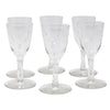 Vintage CG Quartex Etched Rose Crystal Liqueur Glasses | The Hour Shop