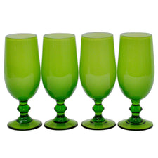 Carlo Moretti Green Cordial Glasses | The Hour Shop Vintage