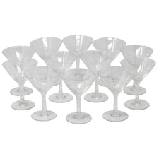 Vintage Noritake Etched Bamboo Small Martini Glasses | The Hour Shop