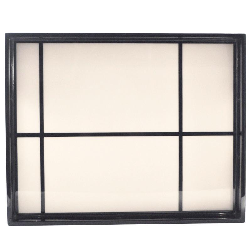 Black & White Grid Lacquer Tray, The Hour Shop Barware