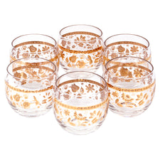 Culver Gold Chantilly Roly Poly Glasses