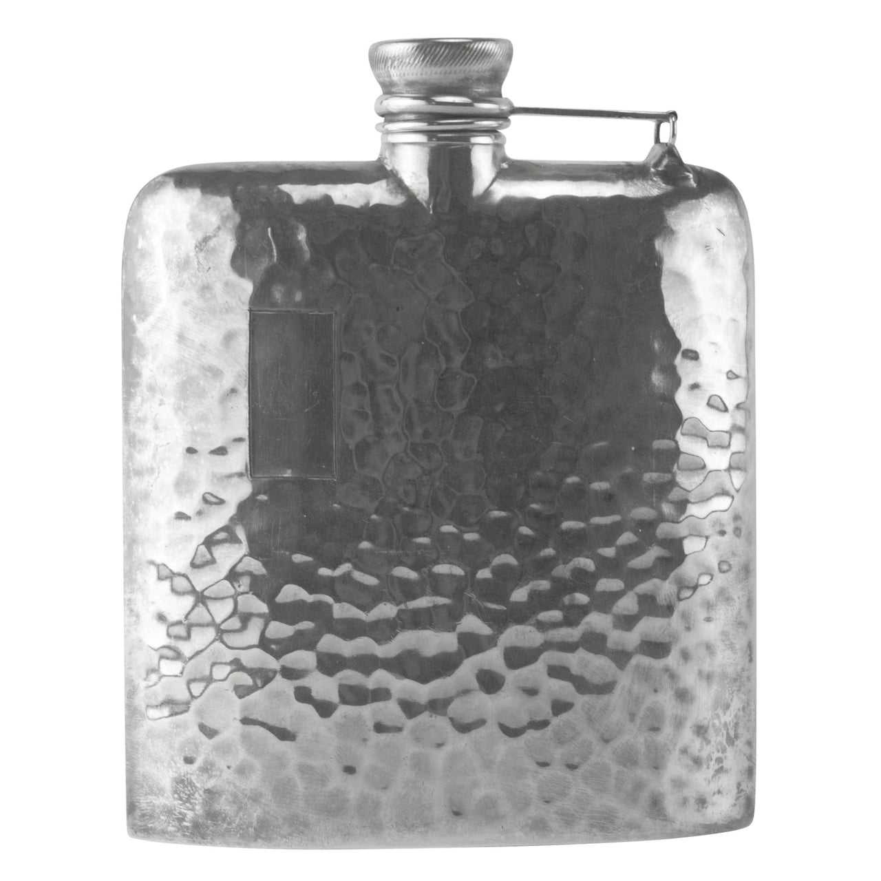Vintage Apollo Silver Plate Hammered Hip Flask, The Hour Shop