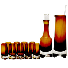 Denby Amber Brown Pitcher & Decanter Set | The Hour Vintage