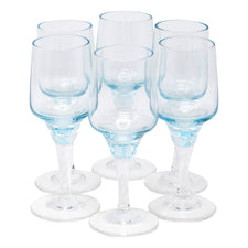 Vintage Sasaki Azure Blue Liqueur Glasses | The Hour Shop