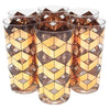 Vintage Culver Gold Geometric Collins Glasses | The Hour Shop
