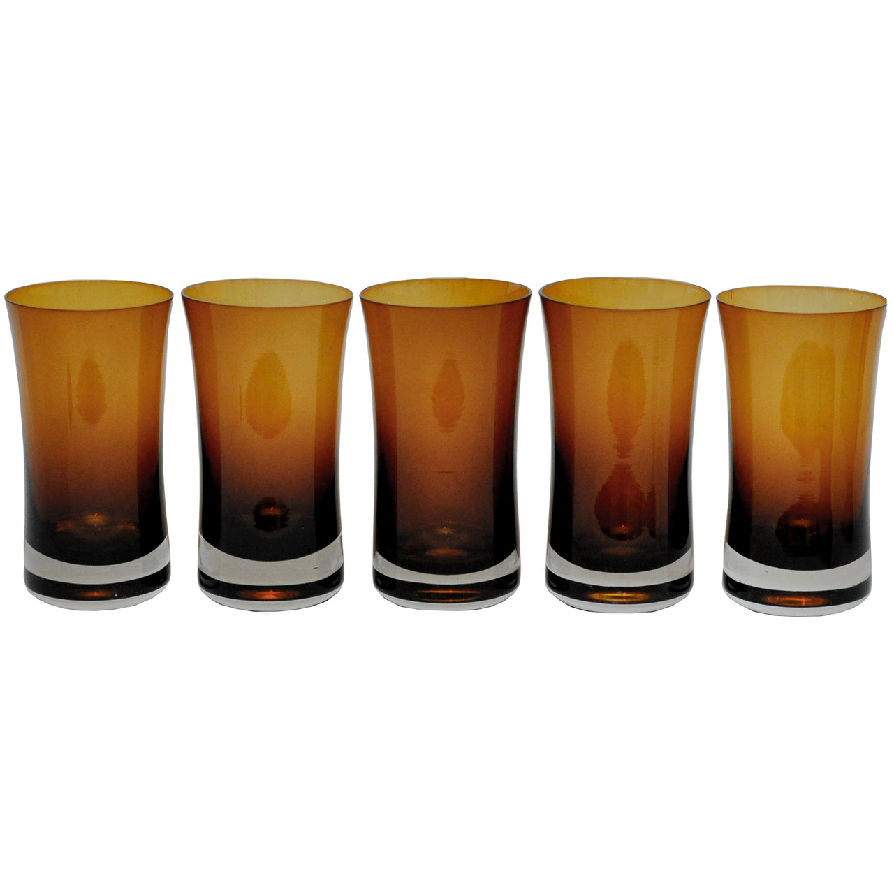 Denby Brown Cased Collins Glasses | The Hour Shop Vintage