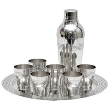 Art Deco French Cocktail Shaker Set