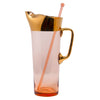 Vintage Pink & Gold Hungarian Cocktail Pitcher | The Hour