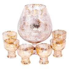 Vintage Gold Shimmer Cocktail Pitcher Set | The Hour Shop