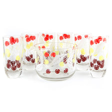 Cherries & Leaves Ice Bucket & Tumblers Set