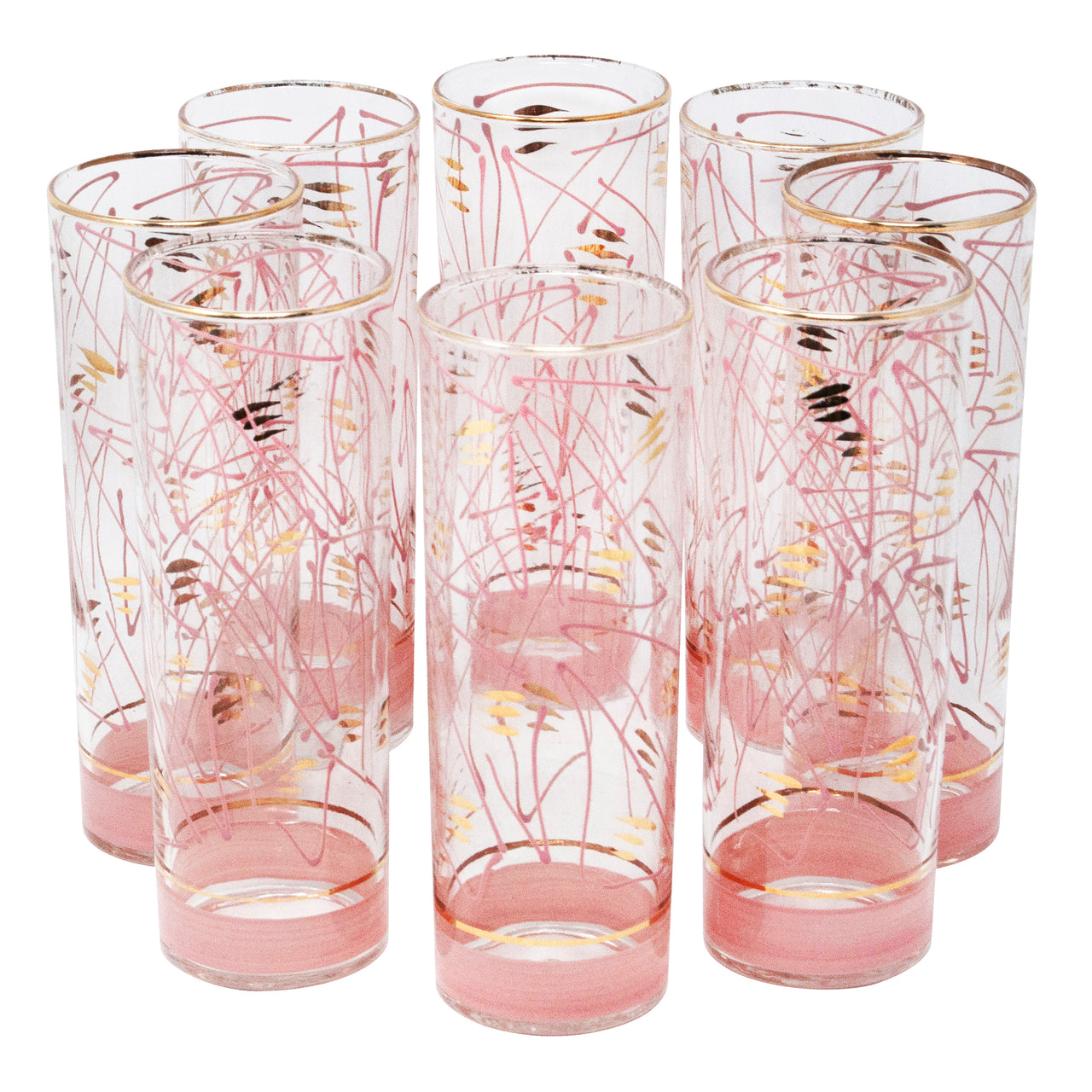 Pink Geometric Shapes Zombie Glasses