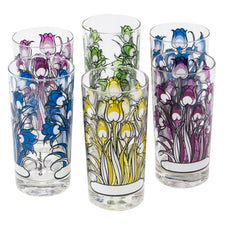 Vintage Fred Press Tulips Collins Glasses | The Hour Shop